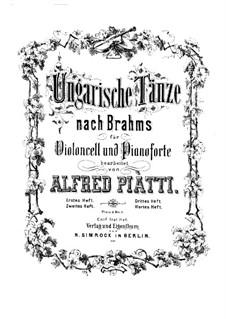 No.1-5: para Violoncelo e piano by Johannes Brahms