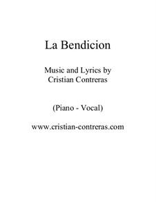 La bendicion (jazz piano-vocal): La bendicion (jazz piano-vocal) by Cristian Contreras
