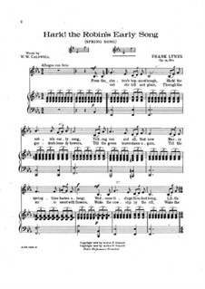 Hark! The Robin's Early Song, Op.12 No.1: Hark! The Robin's Early Song by Frank Lynes