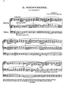 Rhosymedre, for Organ: Rhosymedre, for Organ by J. D. Edwards