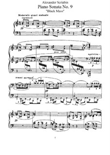 Sonata for Piano No.9 'Black Mass', Op.68: For a single performer by Alexander Scriabin