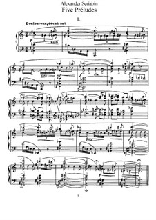 Five Preludes, Op.74: Para Piano by Alexander Scriabin