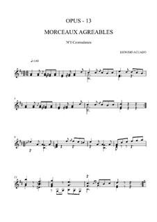 Morceaux agréables non difficiles, Op.13: No.1 Contredanse by Dionisio Aguado