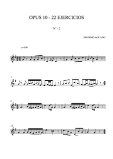 Exercises for Guitar, Op.10: Exercise No.2 by Dionisio Aguado