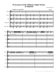 Musica notturna delle strade di Madrid (Night Music of the Streets of Madrid), Op.30: partitura by Luigi Boccherini