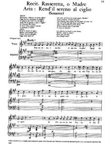 Sosarmes, King of Media, HWV 30: Rend'il sereno al ciglio by Georg Friedrich Händel