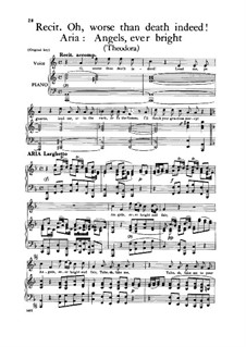 Theodora, HWV 68: Angels, Ever Bright and Fair, for voice and piano by Georg Friedrich Händel