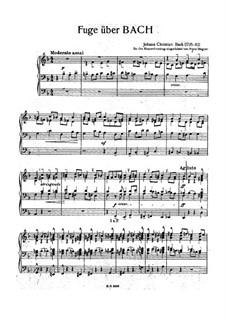 Fugue on BACH, W YA50: para um único musico (Editado por H. Bulow) by Johann Christian Bach