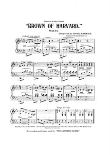Brown of Harvard: Brown of Harvard by Louis Maurice
