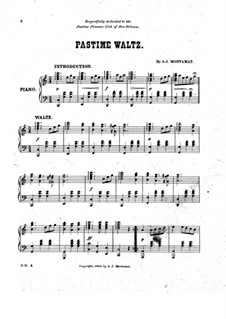 Pastime Waltz: Pastime Waltz by A. J. Montamat