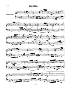 Overture in the French Style, BWV 831: Partitura piano by Johann Sebastian Bach