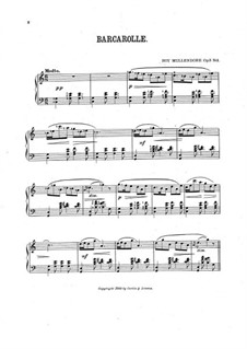 Four Musical Gems, Op.3: No.1 Barcarolle by Roy Mullendore