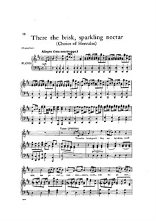 The Choice of Hercules, HWV 69: There the brisk, sparkling nectar by Georg Friedrich Händel