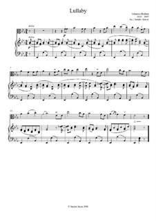 No.4 Cradle Song: para viola e piano by Johannes Brahms