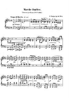 Funeral March in C Minor, Op. posth.72 No.2: Para Piano by Frédéric Chopin