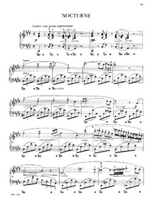 Nocturne in C Sharp Minor, B.49 KK IVa/16: Para Piano by Frédéric Chopin