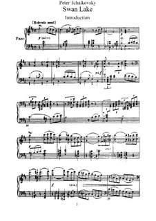 Fragments: Acts I-II, for piano by Pyotr Tchaikovsky