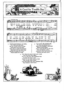 A Carol for Twelfth Day: A Carol for Twelfth Day by Unknown (works before 1850)