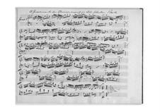 Complete set, BWV 772-786: No.1-15 (Manuscript) by Johann Sebastian Bach