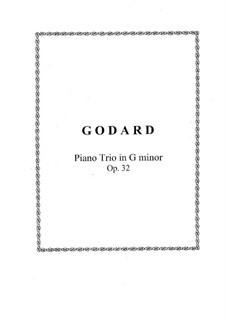 Piano Trio No.1 in G Minor, Op.32: Partitura completa, Partes by Benjamin Godard