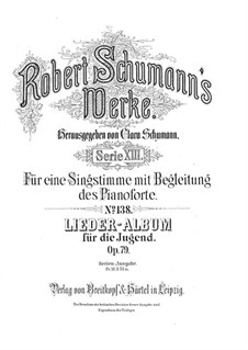 Album of Songs for the Young, Op.79: set completo by Robert Schumann