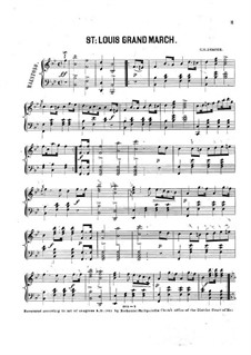 St. Louis Grand March for Piano: St. Louis Grand March for Piano by G. H. Draper