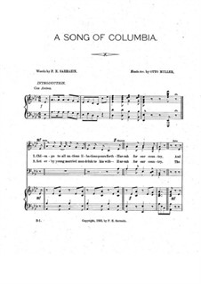 A Song of Columbia: A Song of Columbia by Otto Müller