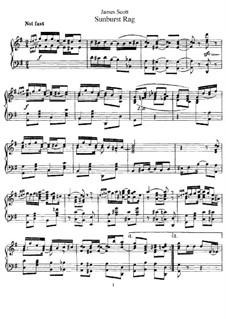 Sunburst Rag: Para Piano by James Scott