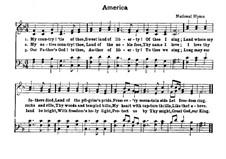 America: para coral e piano by Henry Carey