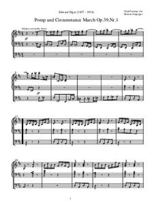 March No.1: para orgãos by Edward Elgar