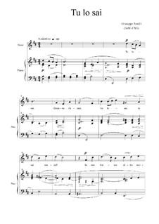 Tu lo sai (You Know): em D maior by Giuseppe Torelli