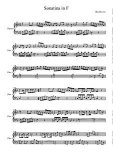 Sonatina in F Major: para piano (partituras de alta qualidade) by Ludwig van Beethoven