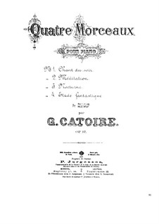 Four Pieces for Piano, Op.12: set completo by Georgy Catoire