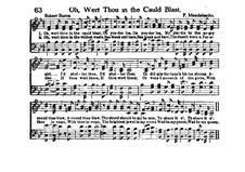 Oh, West Thou in the Cauld Blast: Oh, West Thou in the Cauld Blast by Felix Mendelssohn-Bartholdy