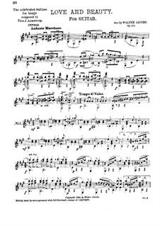 Love and Beauty. Arrangement for Guitar: Love and Beauty. Arrangement for Guitar by Thomas J. Armstrong