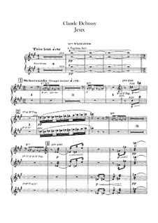 Jeux (Games), L.126: violinos parte I by Claude Debussy