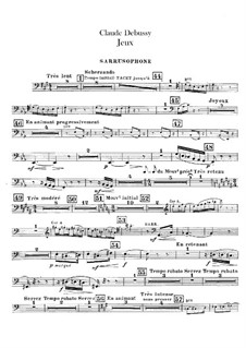 Jeux (Games), L.126: Sarrusophon part by Claude Debussy