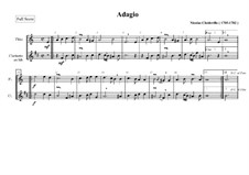 Adagio for Flute and Clarinet: Adagio for Flute and Clarinet by Nicolas Chédeville