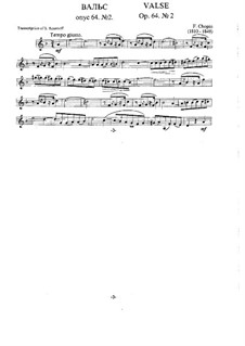 No.2 in C Sharp Minor: para clarinete e piano by Frédéric Chopin