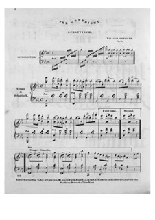 The Copyright Schottisch, Op.62: The Copyright Schottisch by William Dressler