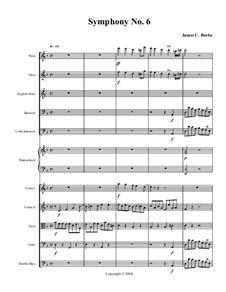 Symphony No.6: partitura completa by James Burke