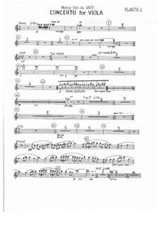 Concerto for Viola and Orchestra: partes by Nancy Van de Vate