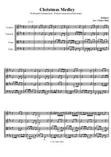 Christmas Medley: para quartetos de cordas by folklore