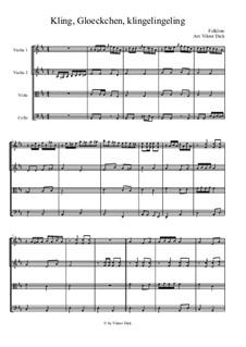 Kling Glöckchen klingelingeling: Für Streichquartett by folklore