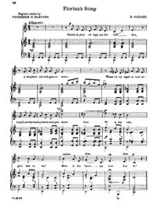 Florian's Song: Partitura Piano-vocal by Benjamin Godard