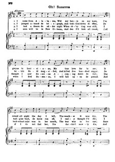 Oh! Susanna: para vozes e piano by Stephen Collins Foster