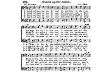 Stand Up for Jesus: para coro by George James Webb