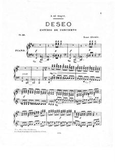 Deseo, Op.40: para um único musico (Editado por H. Bulow) by Isaac Albéniz