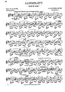 Albumblatt (Album Leaf), Op.293: arranjos para guitarra, Op.114 No.1 by Gustav Lange