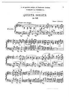 Piano Sonata No.5, Op.82: para um único musico (Editado por H. Bulow) by Isaac Albéniz